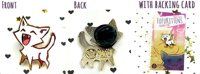 This is how the Happy Fufukitten pin looks ♥