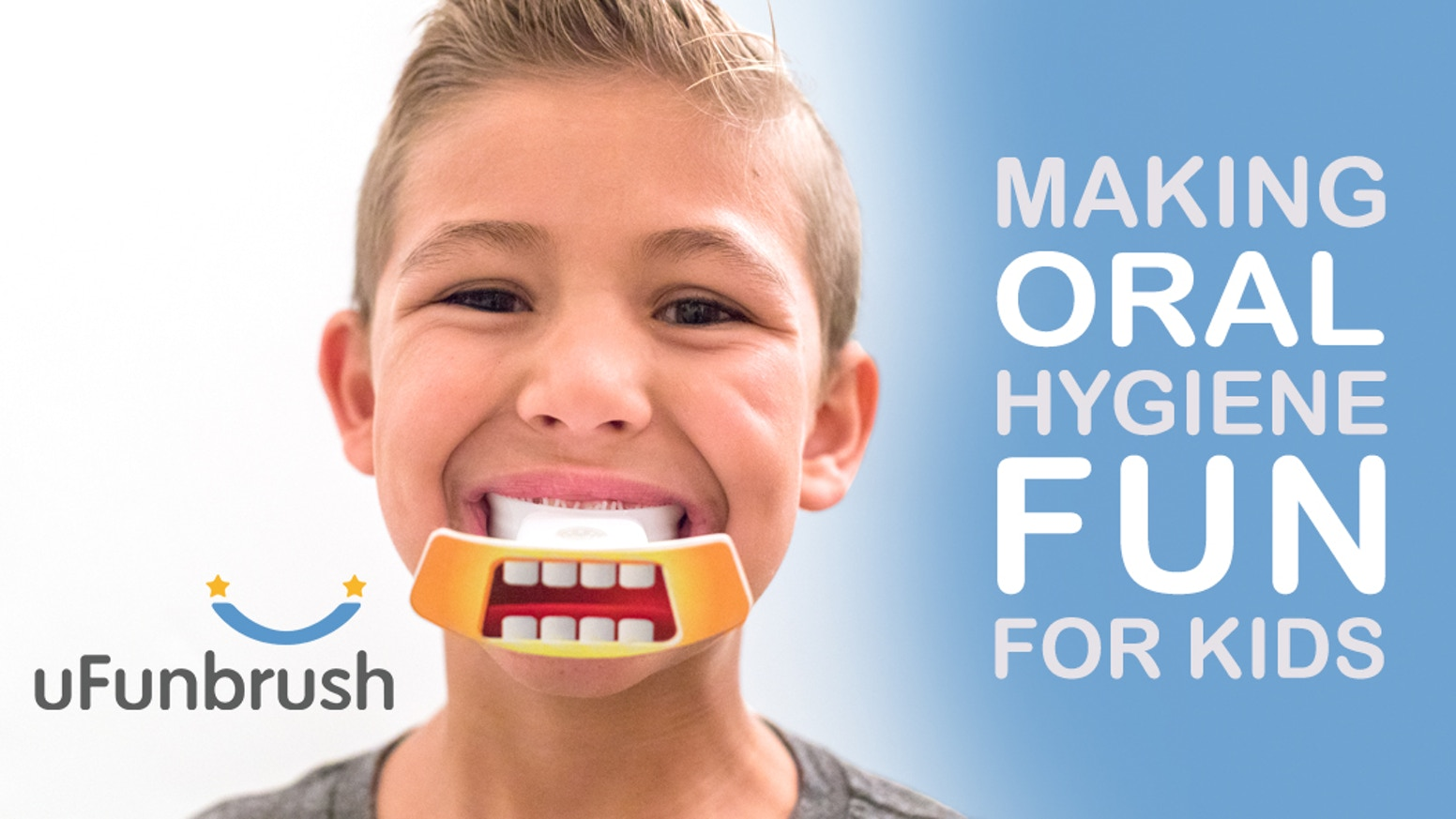 Patented U Sonic technology, Making oral hygiene EASIER, in just 10 seconds. For kids and adults.