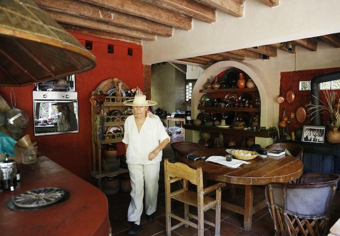 Diana in her kitchen, 2014