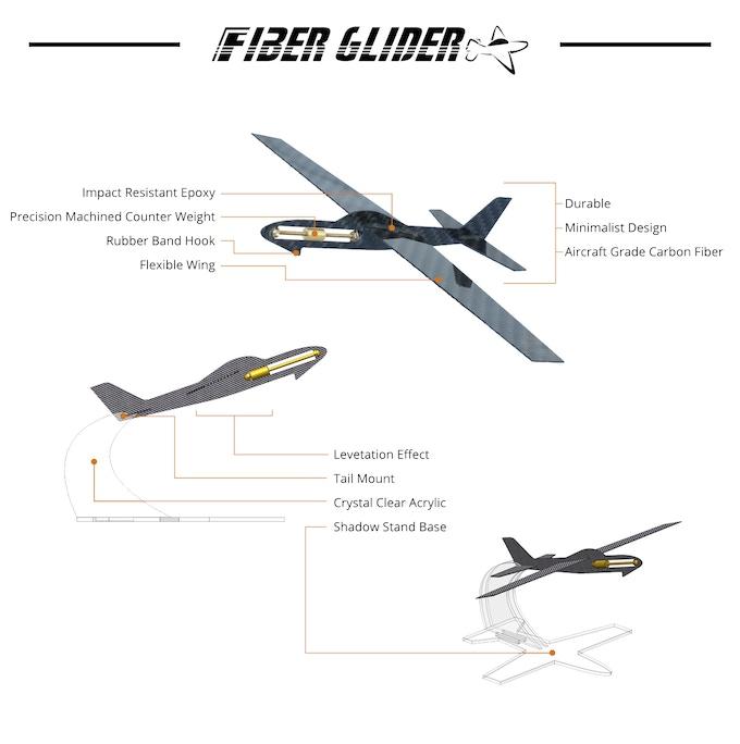 Fiber Glider A Carbon Fiber Model Airplane By Tray Kickstarter