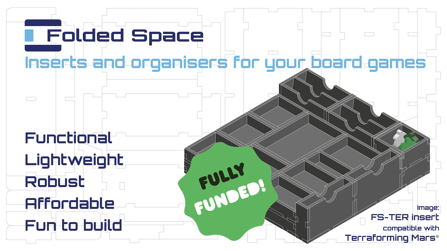 Board game inserts that are affordable enough to add improved game play and secure storage to many of your favourite games. Now available on our web store!