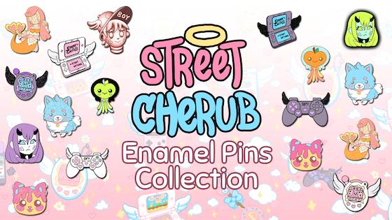 Street Cherub Enamel Pins Collection