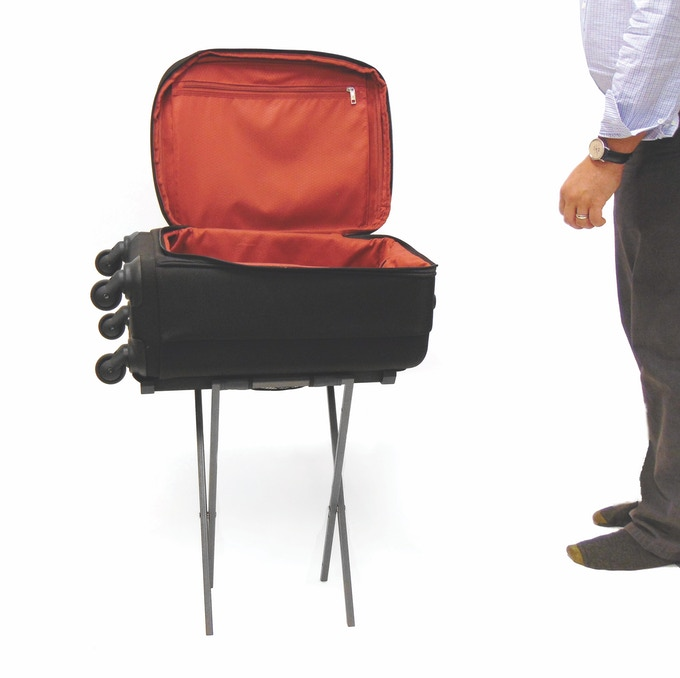 Axial Carry On Suitcase Luggage With Seat Table Amp Rack