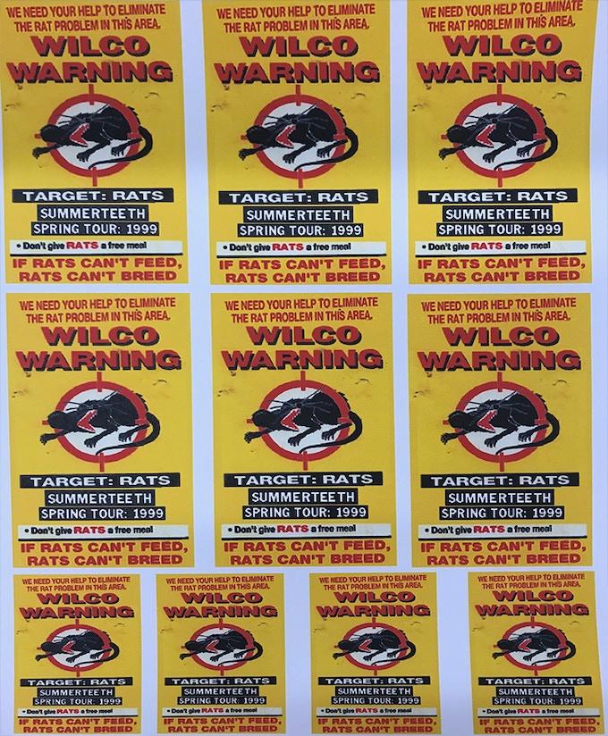 Uncut sheet of 1999 Summerteeth Spring Tour backstage passes