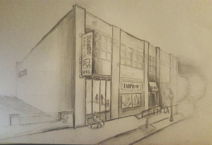 Initial renderings of The BIG Theater