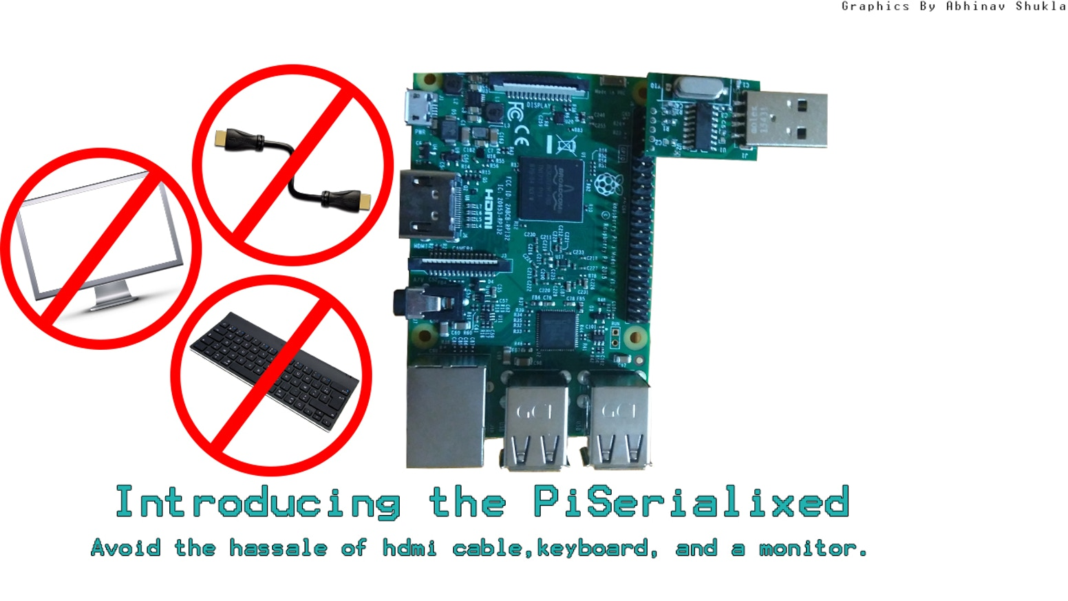 PiSerialixed - Raspberry Pi 3 UART USB Board by Vikas Shukla
