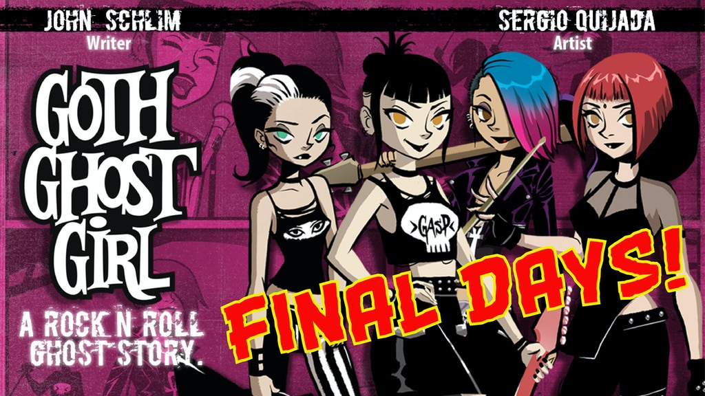 Goth Ghost Girl comic book #1 project video thumbnail