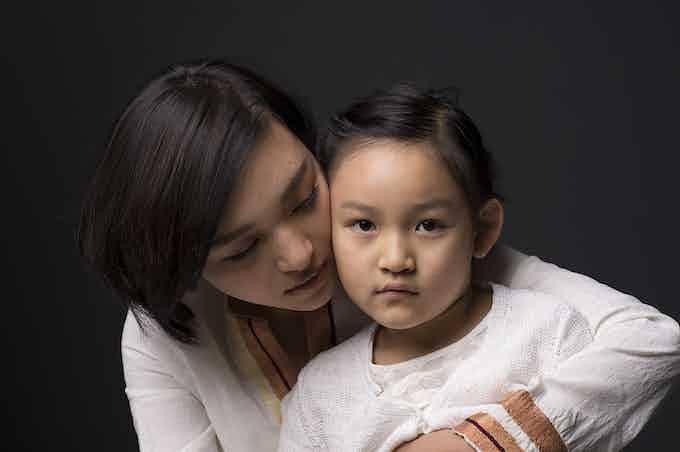 Du Han with her first child  Rachel