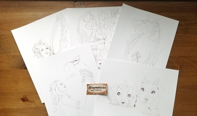 More samples of completed pages
