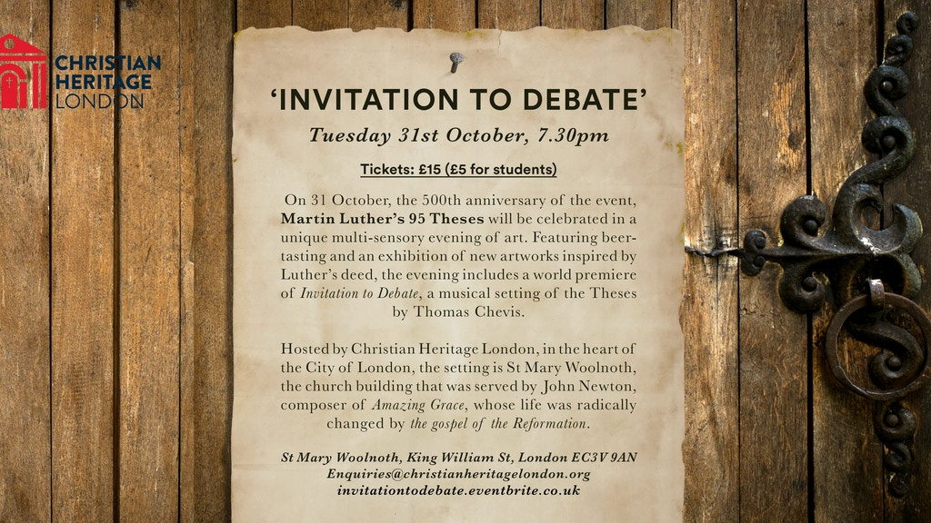 Invitation To Debate Martin Luther S 95 Theses By Thomas