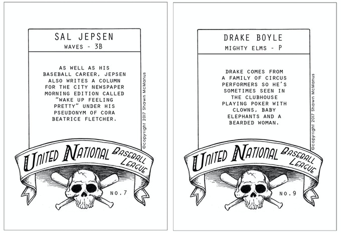 Two examples of the back of the cards