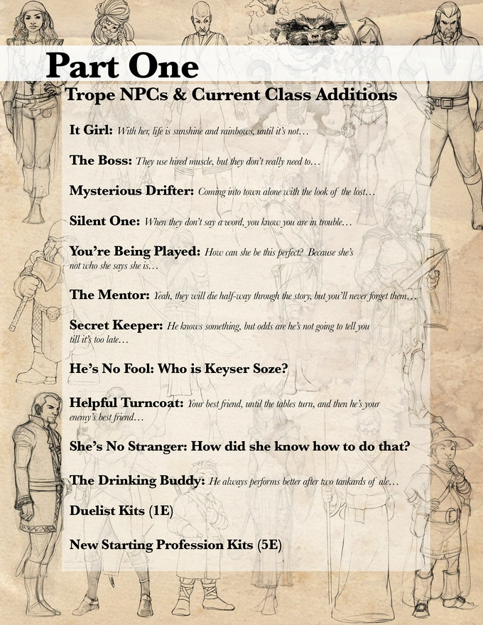 Expand your game with new NPC classes and kits for Player classes!