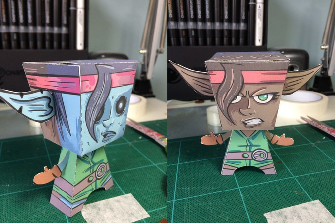 Everybody who pledges gets a paper toy!