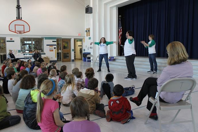 BIG Instructors teach at an assembly