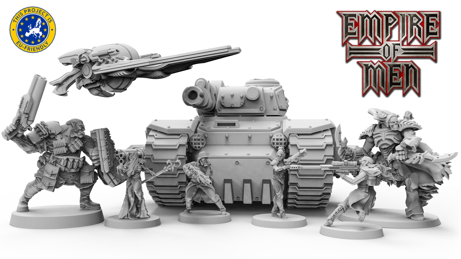 Astonishing miniature line of sci-fi armies of dark future. Perfect for your favorite tabletop game, collection or painting.