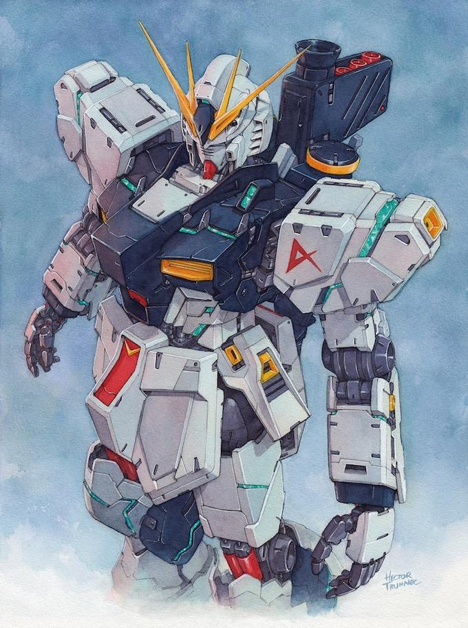 Gundam portrait by Hector Trunnec