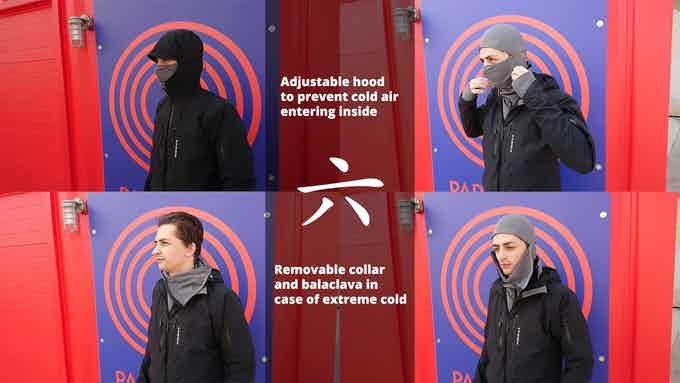 Adjustable Hood & Removable Collar/Balaclava