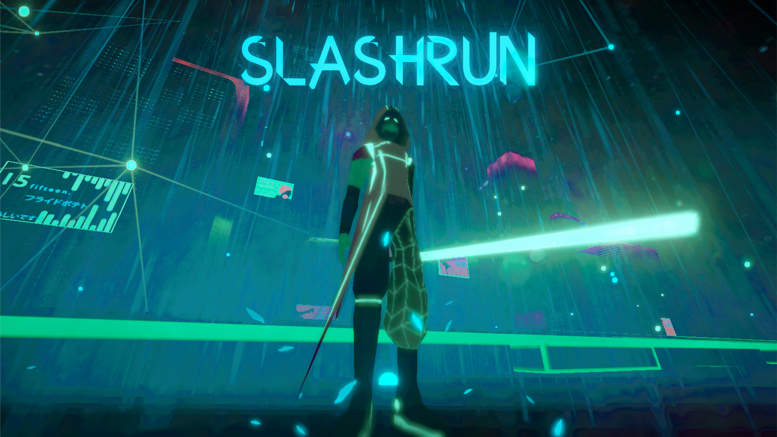 SLASHRUN - Cyberpunk runner with swipe blade action by Piegay Romain