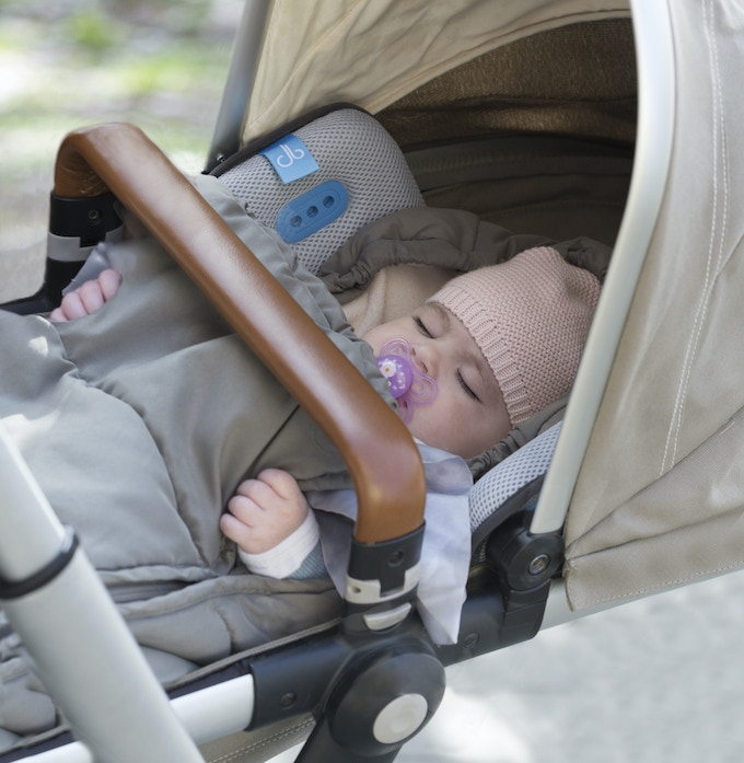 Brizi Baby works just as well for newborns lying down flat as for toddlers sitting upright in a pushchair.