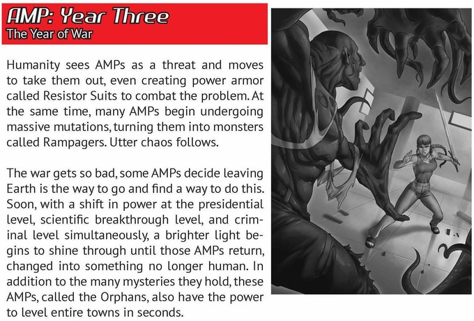 Now Comes AMP Year Four The Next Book In Gameline It Will Include Following