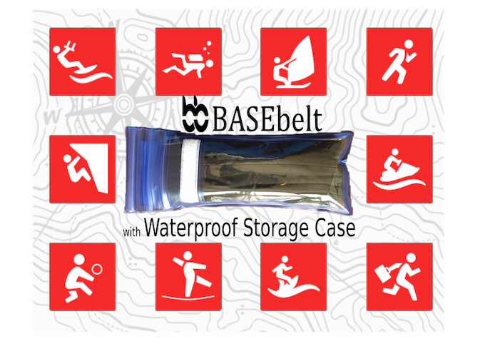 Waterproof Case to Store Valuables in BASEbelt