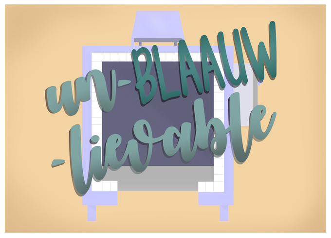 Un-BLAAUW-lievable! Standard Sized Postcard
