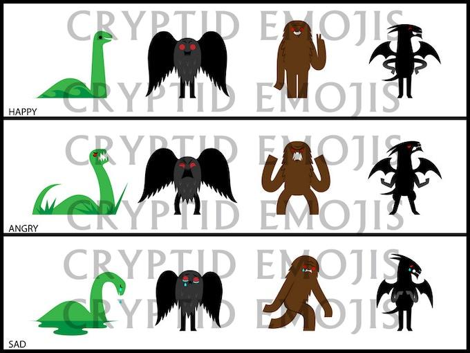 Cryptid Emojis
