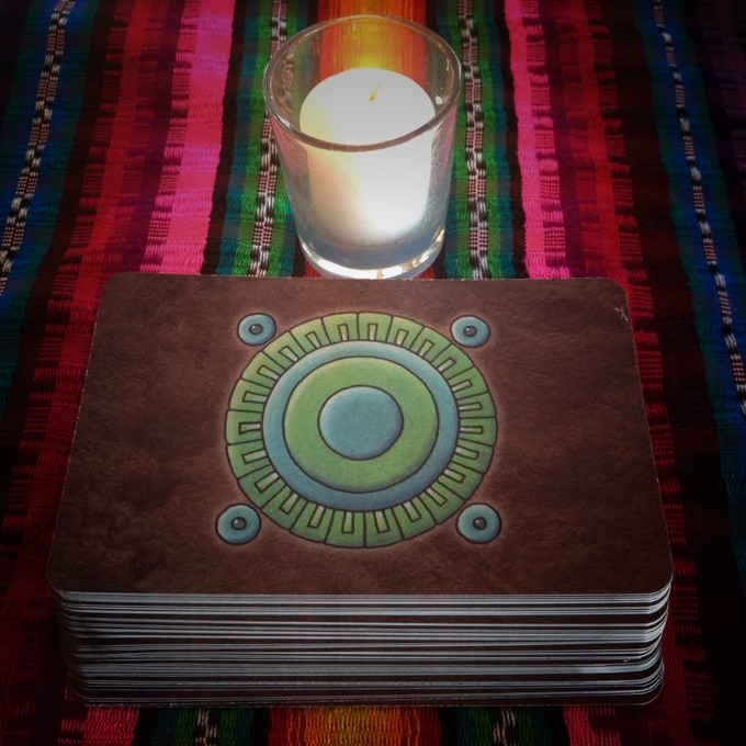 The back of the cards features the symbol for Chalchihuitl, or Jade.