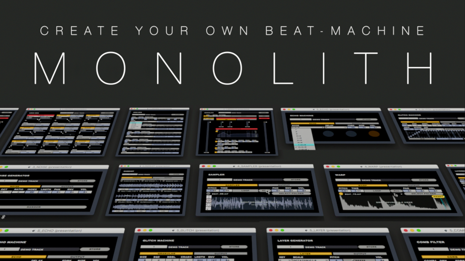 monolith create your own beat machine by noel kit kickstarter