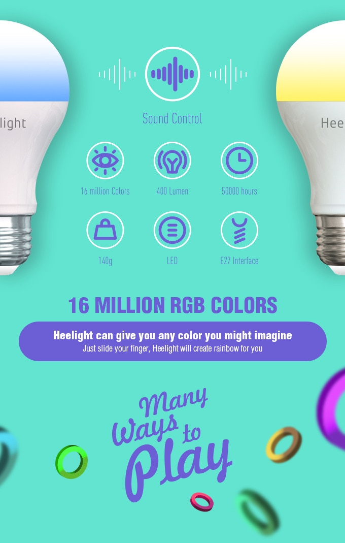Heelight A Smart Bulb That Reacts To Sound By