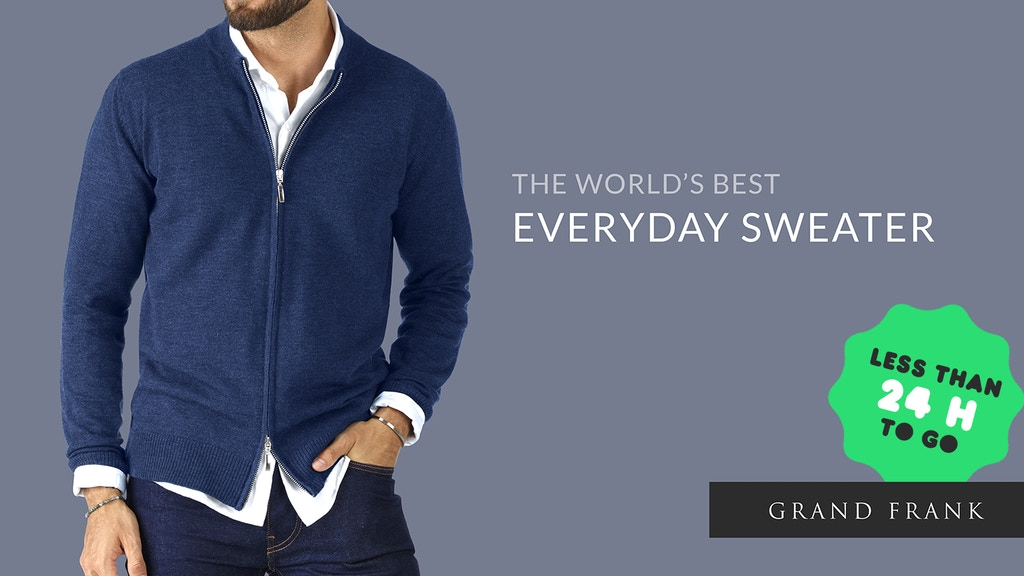 The World's Best Everyday Sweater | By Grand Frank project video thumbnail
