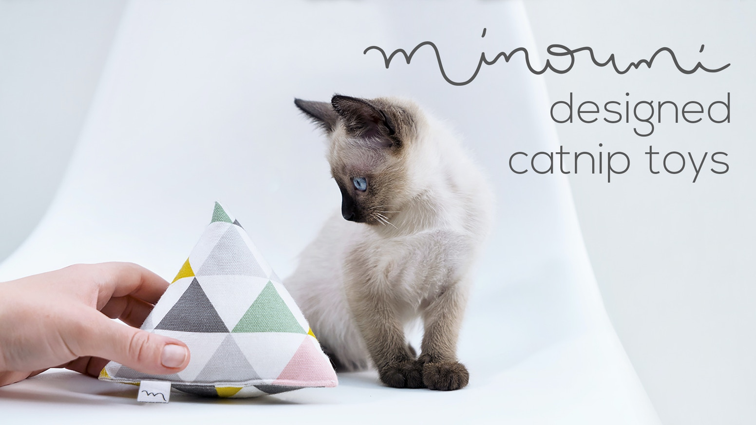 Pyramid shaped catnip toys that fit perfectly into the design of your living interior! Handmade with love in Germany.