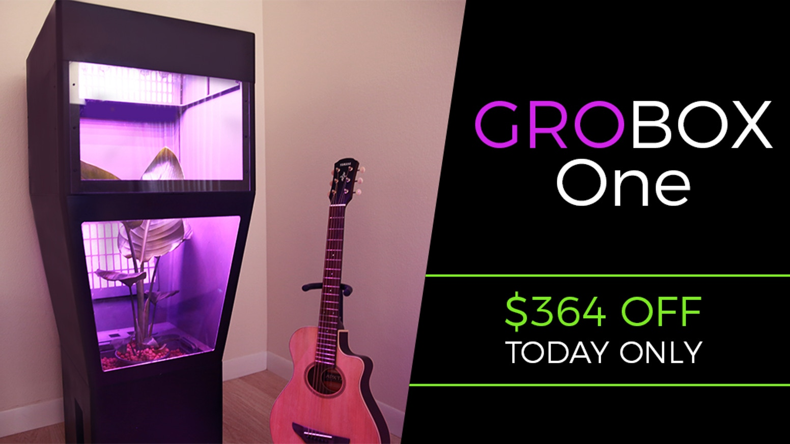 Your all in one, indoor hydroponics greenhouse that has everything you need. LEDs, automatic watering, and built-in carbon air filter