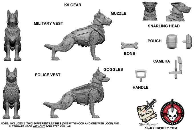 Marauder Task Force 1 18th K9 Dog Exo Suit Amp Contract Ops
