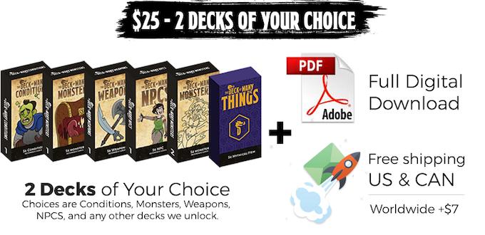 the deck of many dnd 5e reference cards by cardamajigs kickstarter