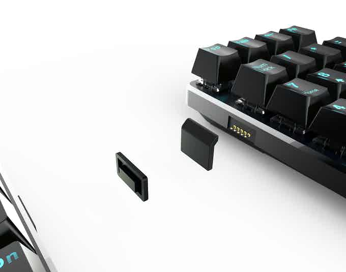This is a *GRAPHIC RENDERING* of the numpad's wireless magnetic transmitter