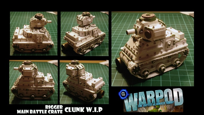 Early Work in Progress pics of the 'Clunk'