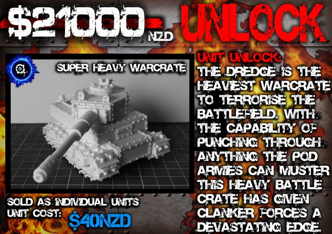 'Dredge' Super Heavy Warcrate (Main Battle Crate of the Clanker Faction)