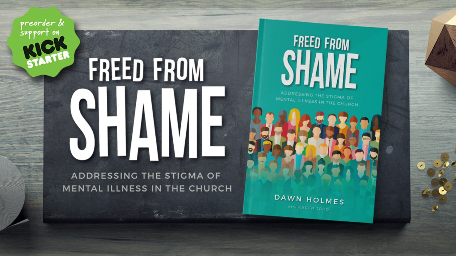 Launches in January 2018.   A book by Dawn Holmes about the experiences of Christians living with mental health issues, and what churches can do to understand and support them.