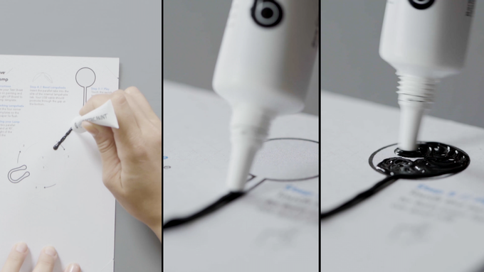 Use Electric Paint to create the controls for your lamp. Follow our templates or make your own shades!