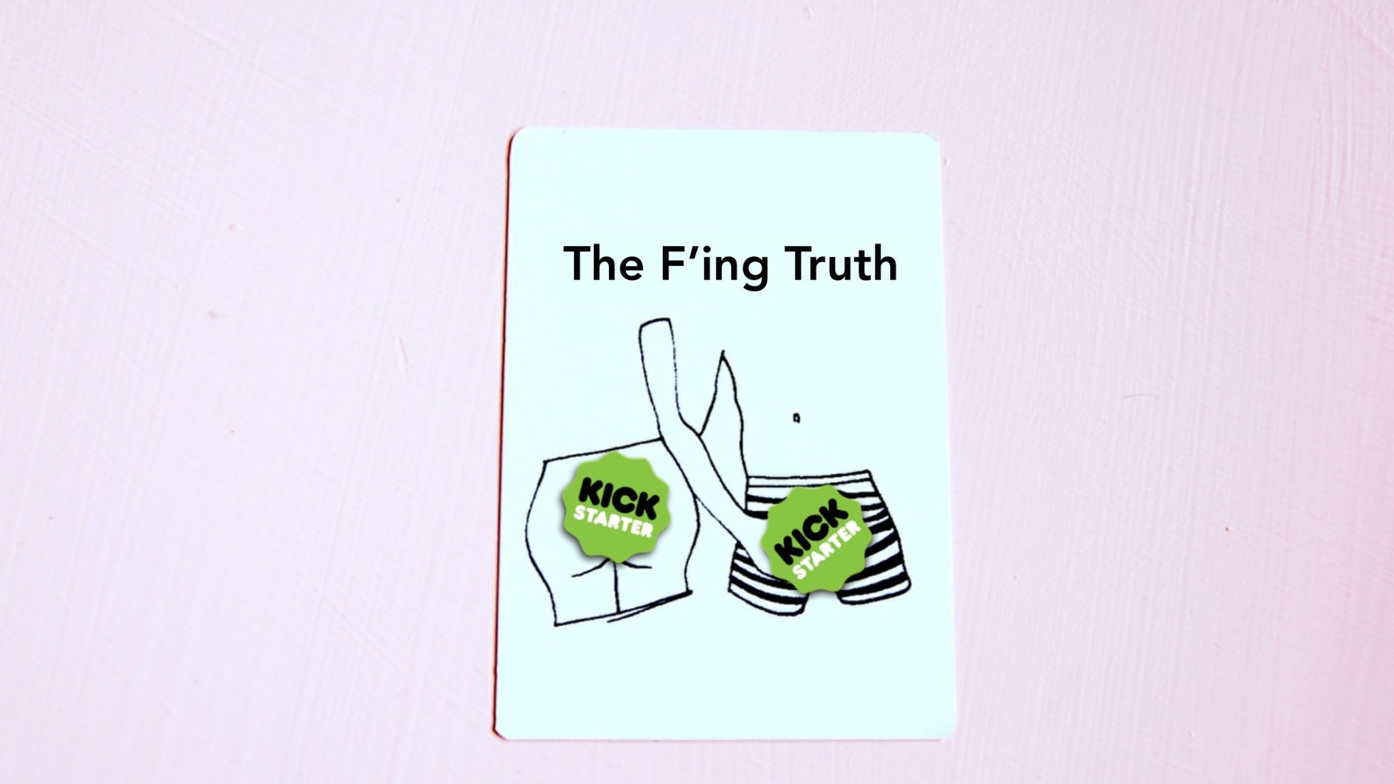 The talking-about-sex game for you and your f'ing friends. 'Bingo' and 'Never Have I Ever's cooler, funner lovechild.
