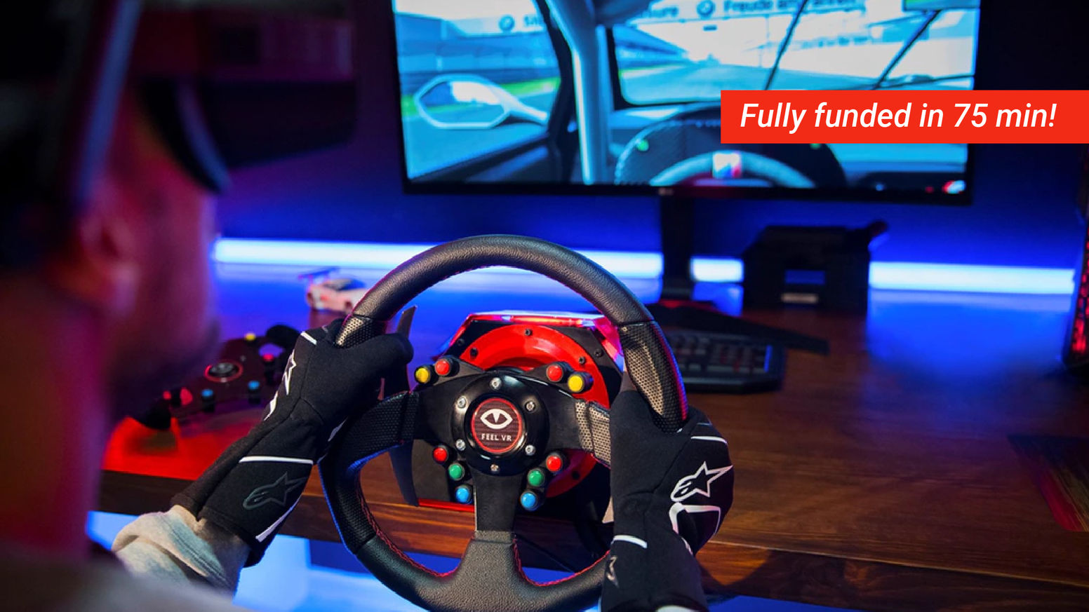 Feel Vr The Affordable Direct Drive Racing Wheel Pedals By Feel