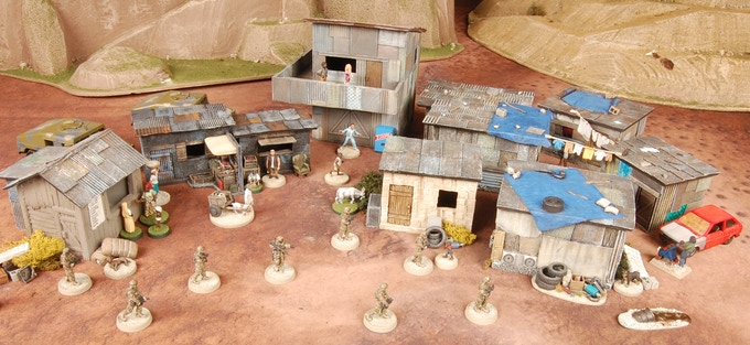 Large Village Pledge Level only comes with the 9 unpainted buildings.