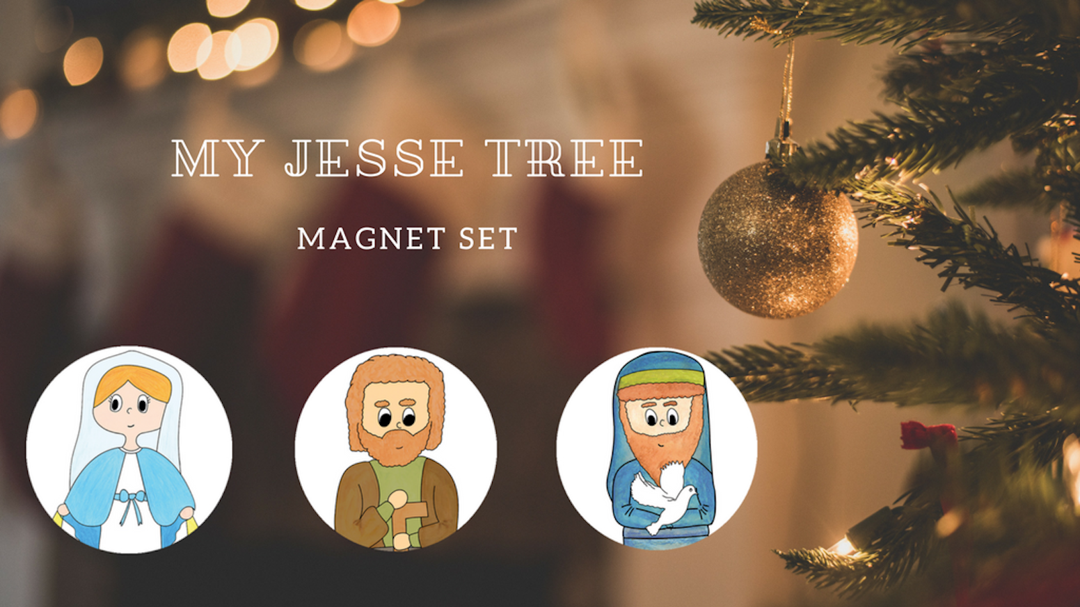 Celebrate Advent with a fun and easy magnetic Jesse Tree! This set includes everything you need to discover the Bible during Advent.