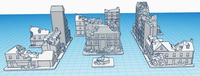 La version détruite de la ville