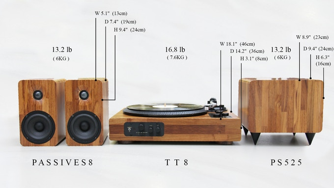 Specifications Of Tt8 Multi Functional Turntable