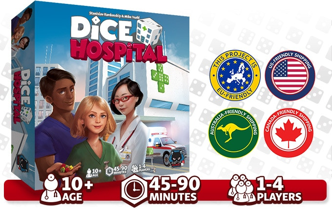 Dice Hospital is customs friendly by shipping with regional partners