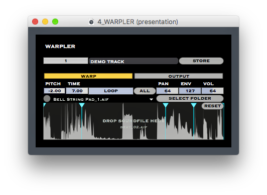 WARPLER: You can set markers and scale anywhere you like.