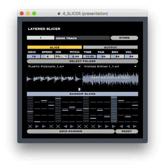 LAYERED SLICER: You can combine 2 sounds to create varieties of sounds.