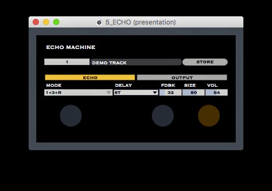 ECHO (3 Delays + 1 Reverb)